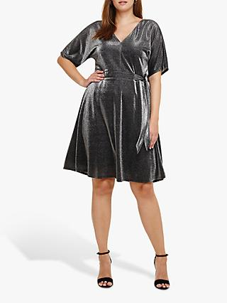 Studio 8 Ashley Shimmer Dress, Silver