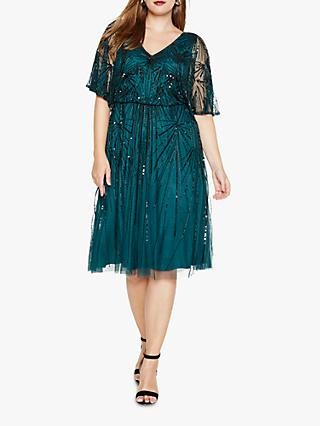 Studio 8 Zoe Beaded Dress, Green