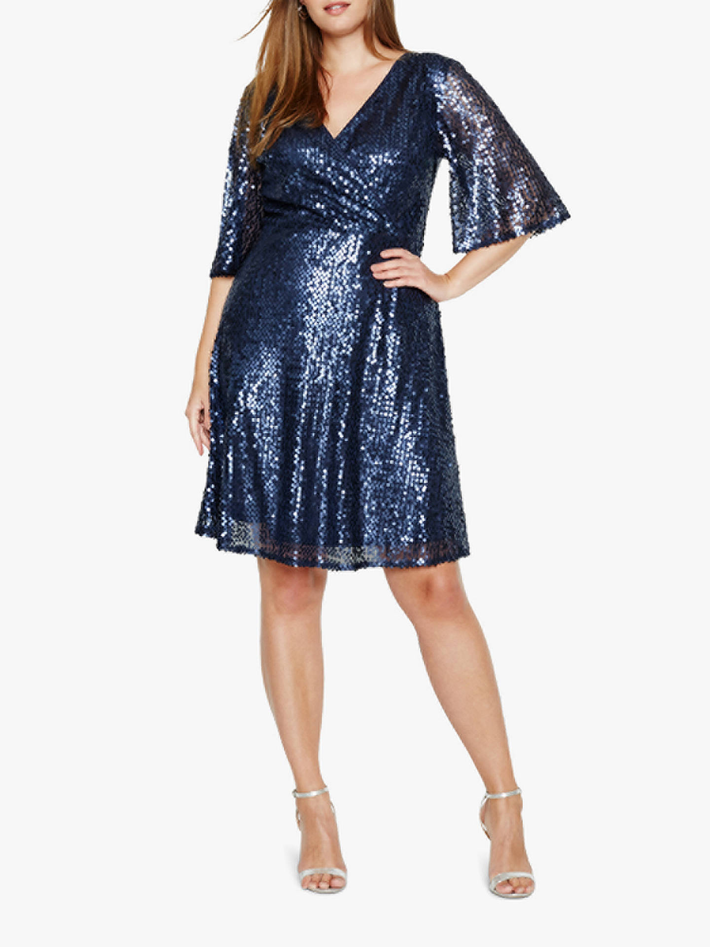 BuyStudio 8 Maya Sequin Dress, Blue, 20 Online at johnlewis.com