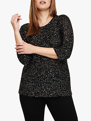 Studio 8 Megan Sequin Embellished Jumper, Black/Multi