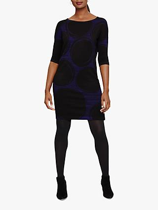 Phase Eight Sammy Knit Dress, Cobalt/Black