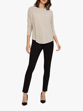 Buy Phase Eight Vicki Sparkle Jeans, Black, 8 Online at johnlewis.com