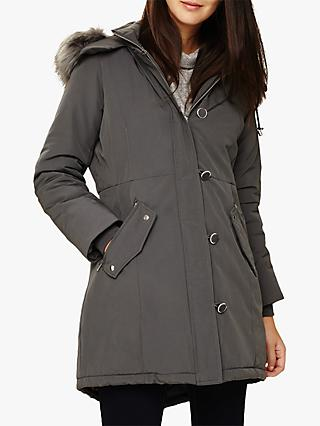 Phase Eight Pina Parka Coat, Grey