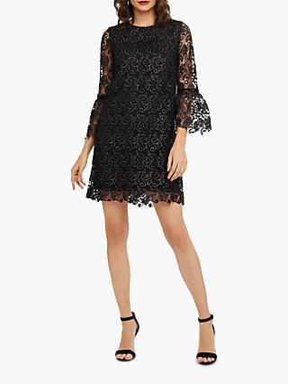 Phase Eight Tiana Lace Dress, Black/Gunmetal