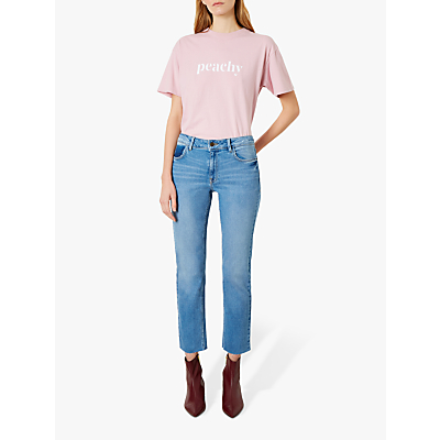 Iden Radcliff Mid Rise Slim Cropped Jeans, Light Indigo