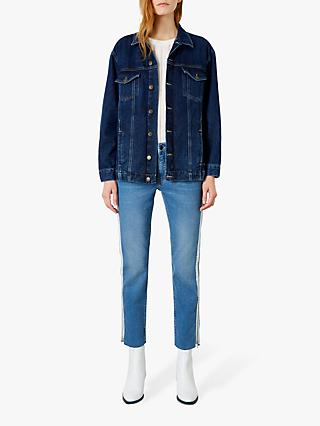 Iden Lace Back Denim Jacket, Indigo