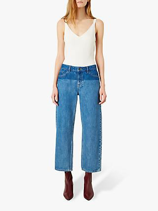 Iden Virginia Boyfriend Shadow Wash Jeans, Mid Blue