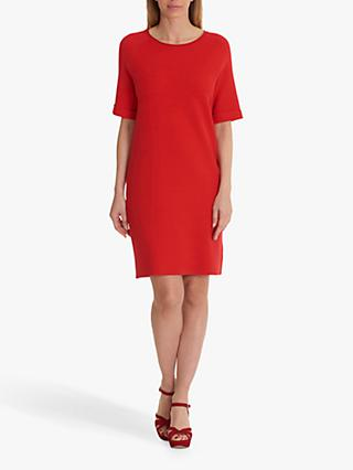 Betty Barclay Knitted Pull-On Short Sleeve Dress, Hibiscus Red
