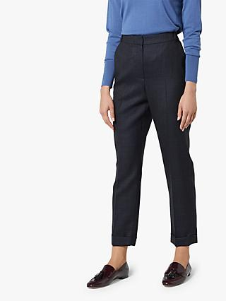 L.K.Bennett Hattie Tailored Wool Trousers, Grey