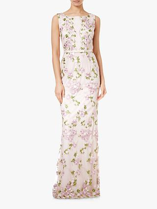 Adrianna Papell Embroidered Dress, Blush