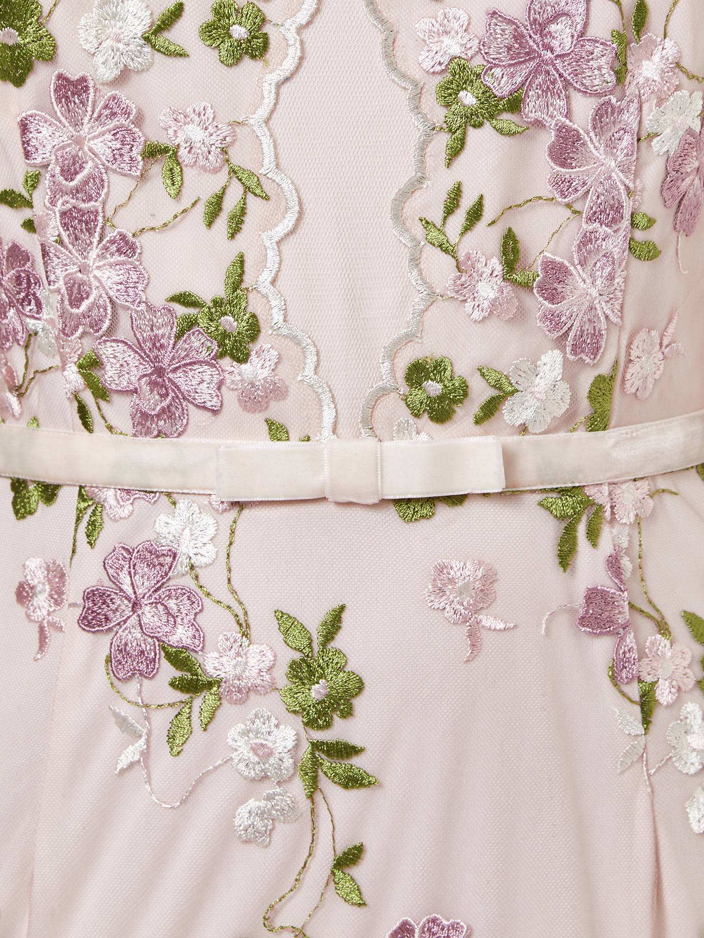 BuyAdrianna Papell Embroidered Dress, Blush, 18 Online at johnlewis.com