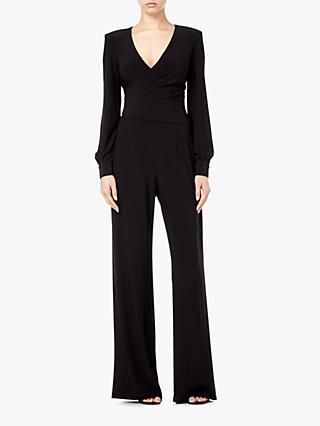 Adrianna Papell V-Neck Draped Jumpsuit, Black