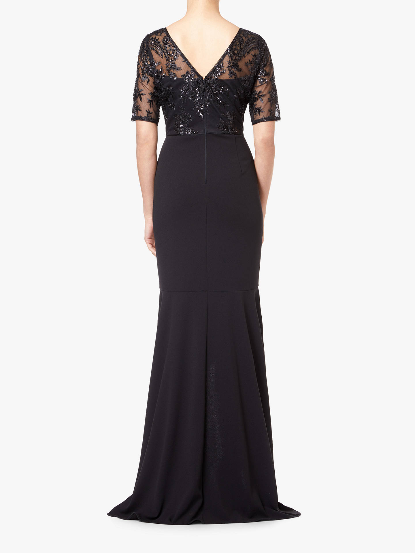 Buy Adrianna Papell Long Sequin Dress, Black, 26XL Online at johnlewis.com