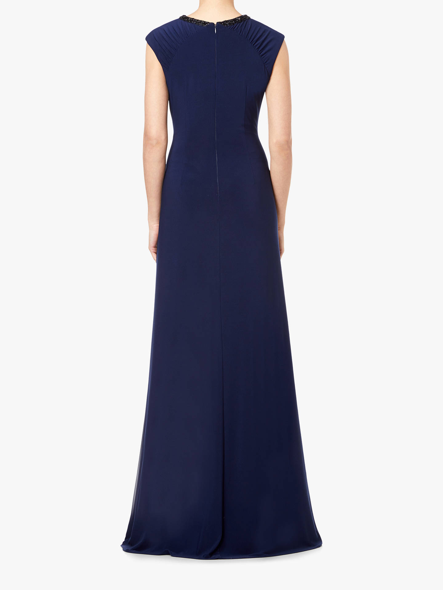 BuyAdrianna Papell Embellished Jersey Maxi Dress, Midnight, 14 Online at johnlewis.com