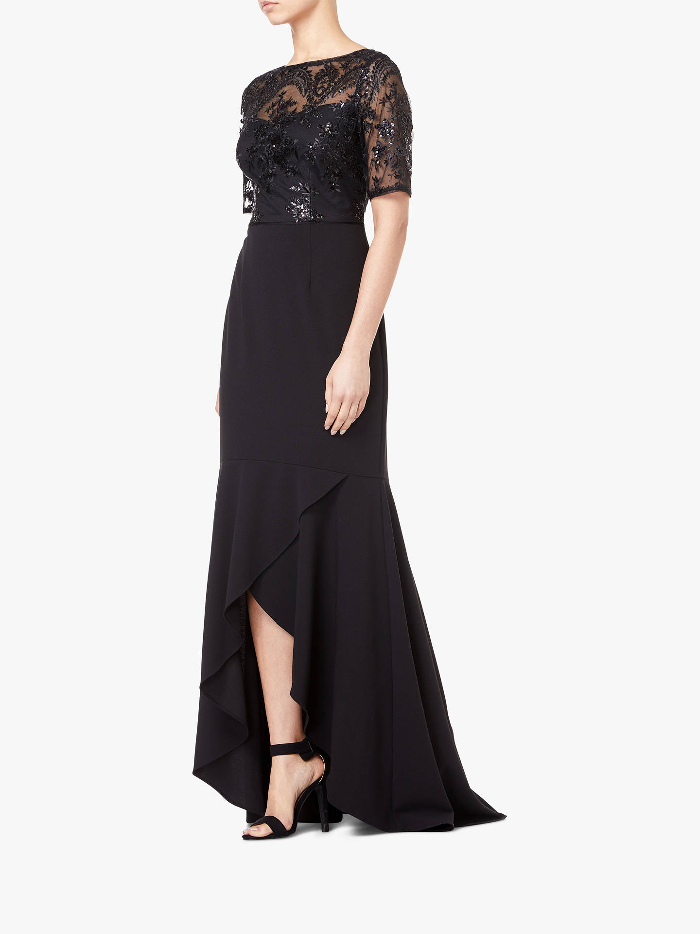 704ea8a7080 Buy Adrianna Papell High Low Sequin Dress, Black, 8 Online at johnlewis.com  ...