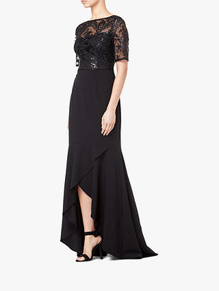 Buy Adrianna Papell High Low Sequin Dress, Black, 8 Online at johnlewis.com