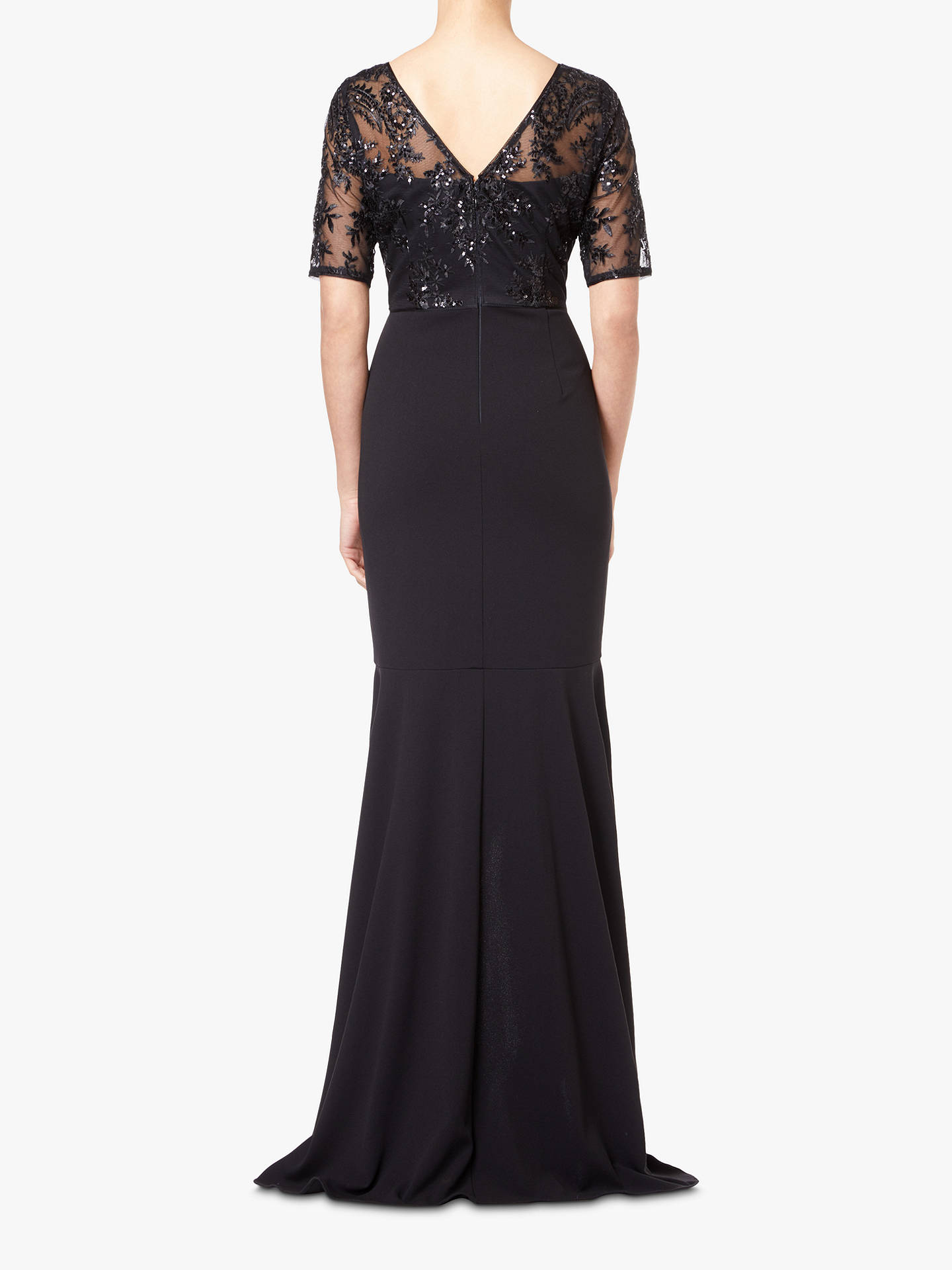 BuyAdrianna Papell High Low Sequin Dress, Black, 8 Online at johnlewis.com