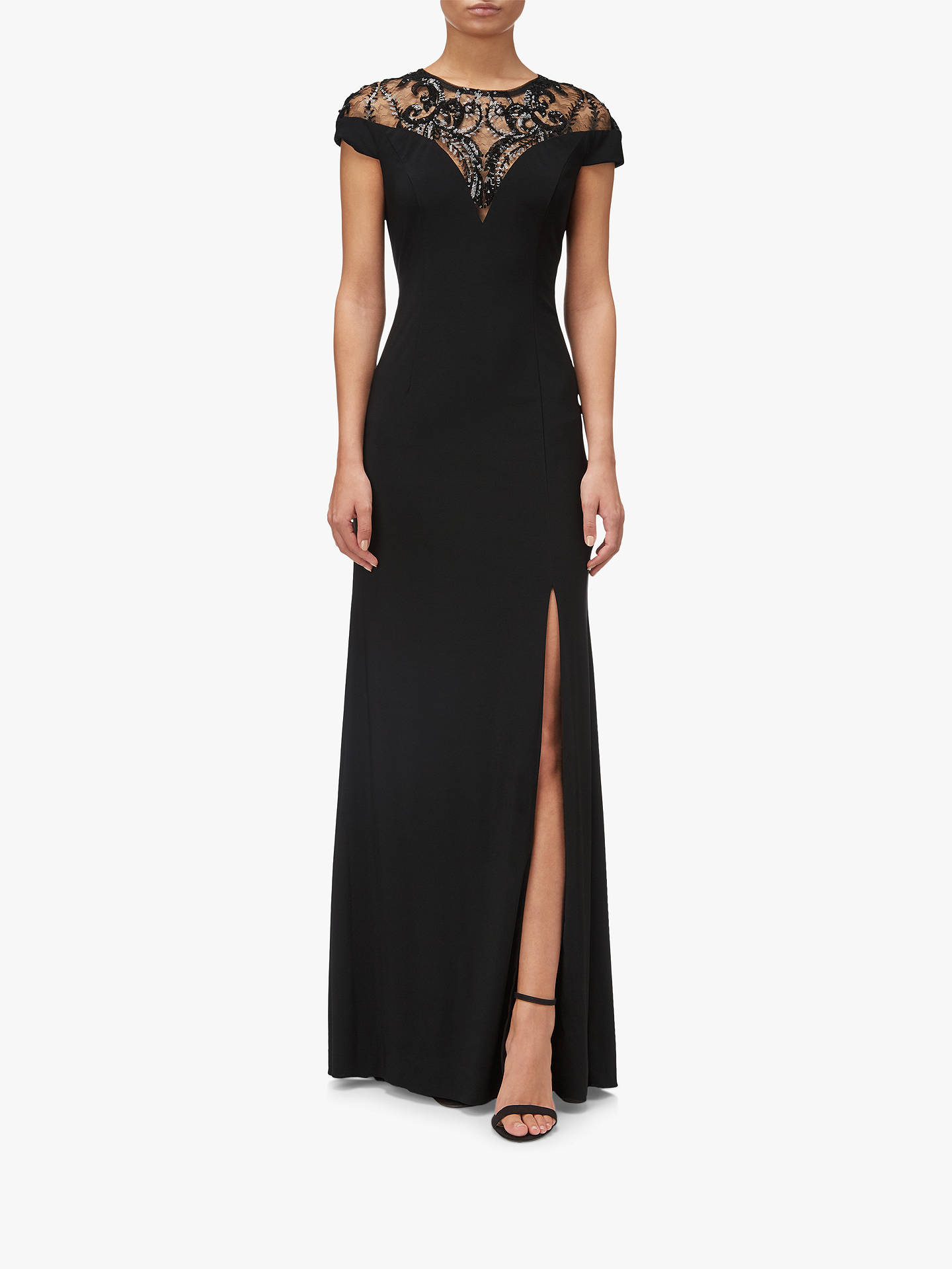 f95832adc372 Buy Adrianna Papell Sequin Jersey Maxi Dress, Black, 18 Online at  johnlewis.com ...