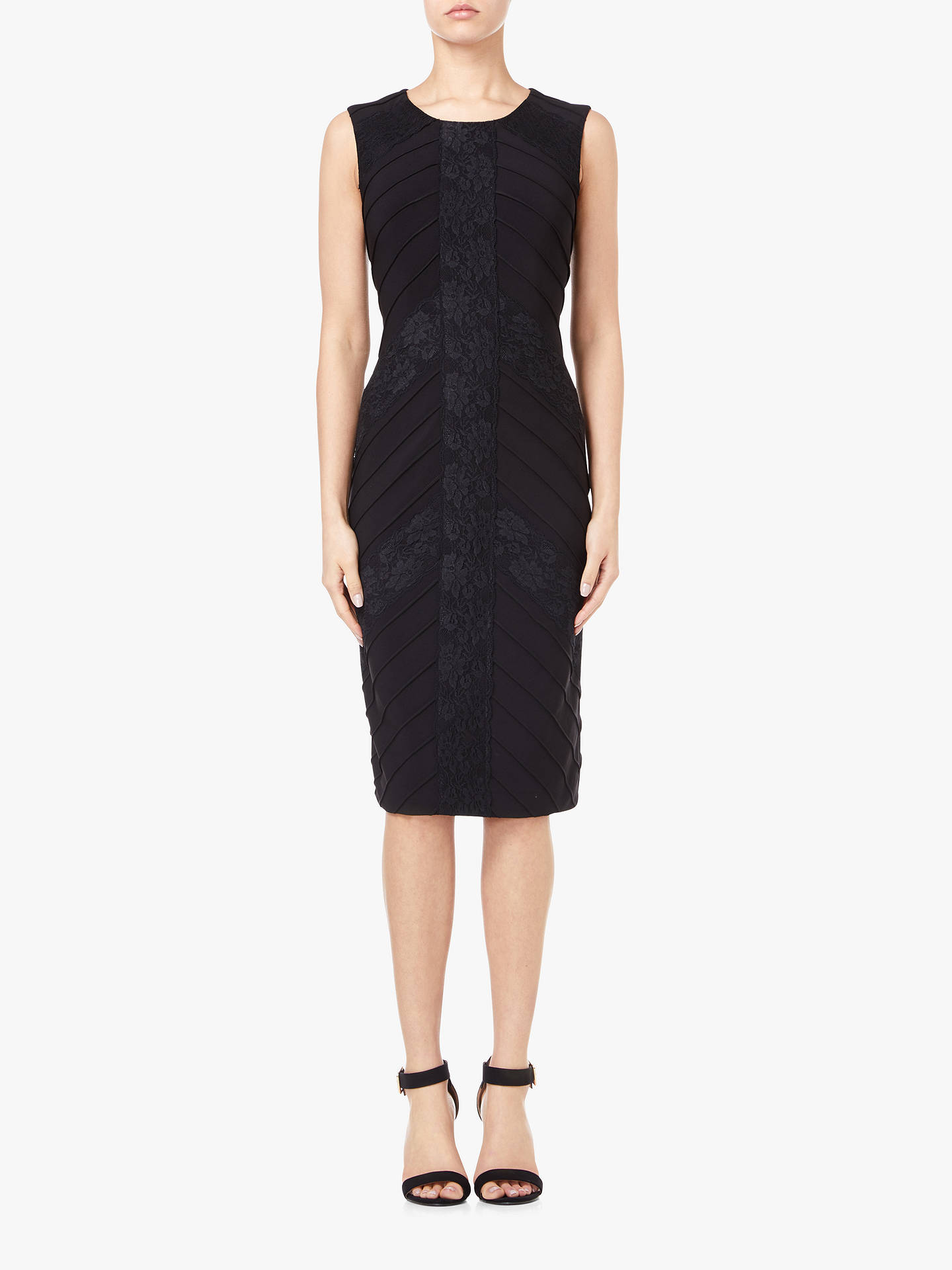Buy Adrianna Papell Matte Jersey Sheath Dress, Black, 10 Online at johnlewis.com