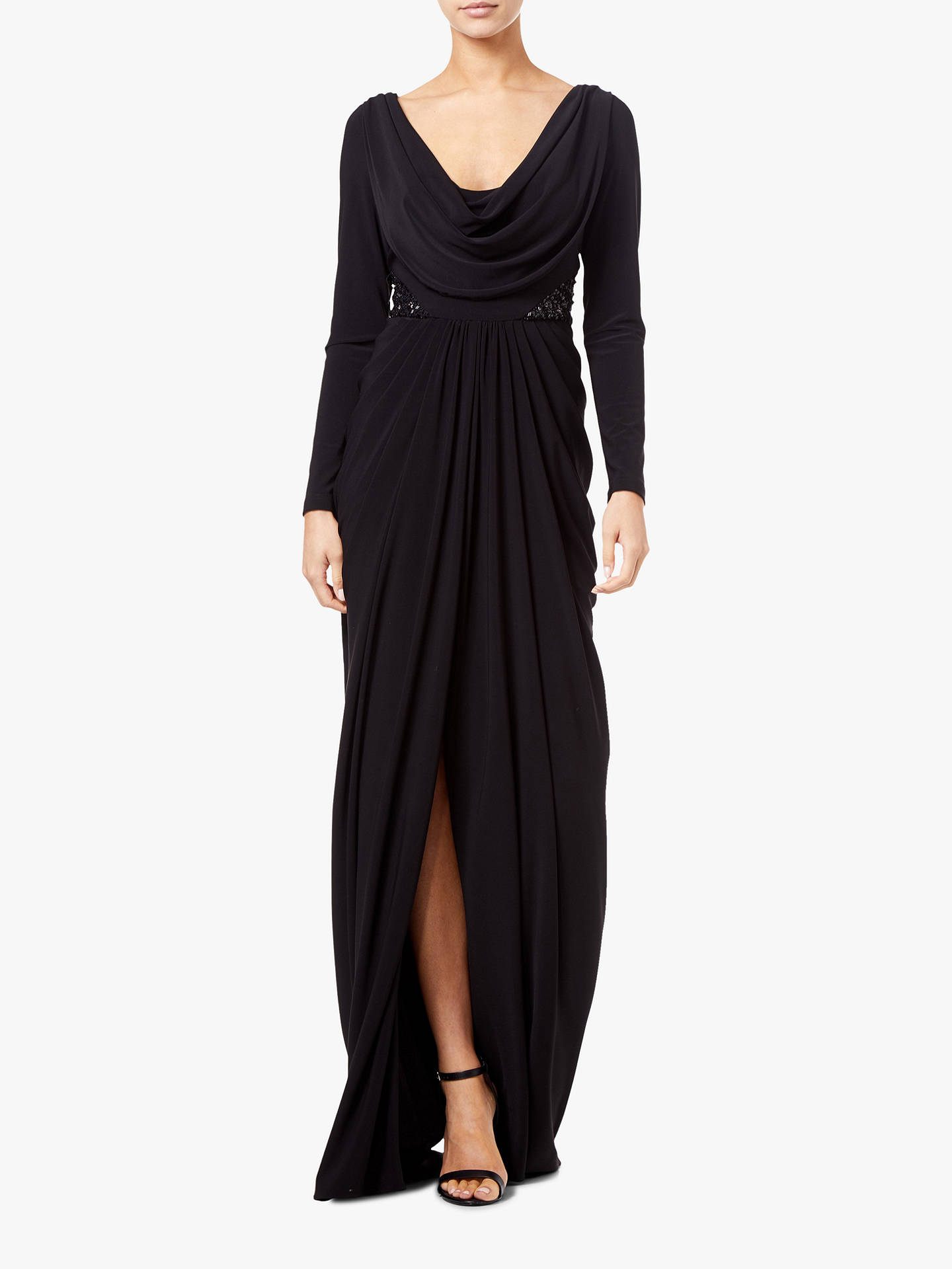 Buy Adrianna Papell  Jersey Maxi Dress, Black, 16 Online at johnlewis.com