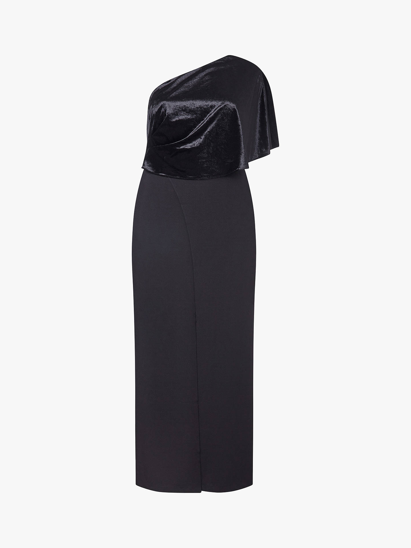 Buy Adrianna Papell Crepe One Shoulder Jumpsuit Petite, Black, 8 Online at johnlewis.com