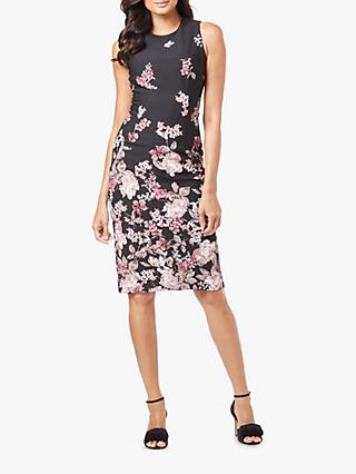 Adrianna Papell Floral Sheath Dress, Black/Multi