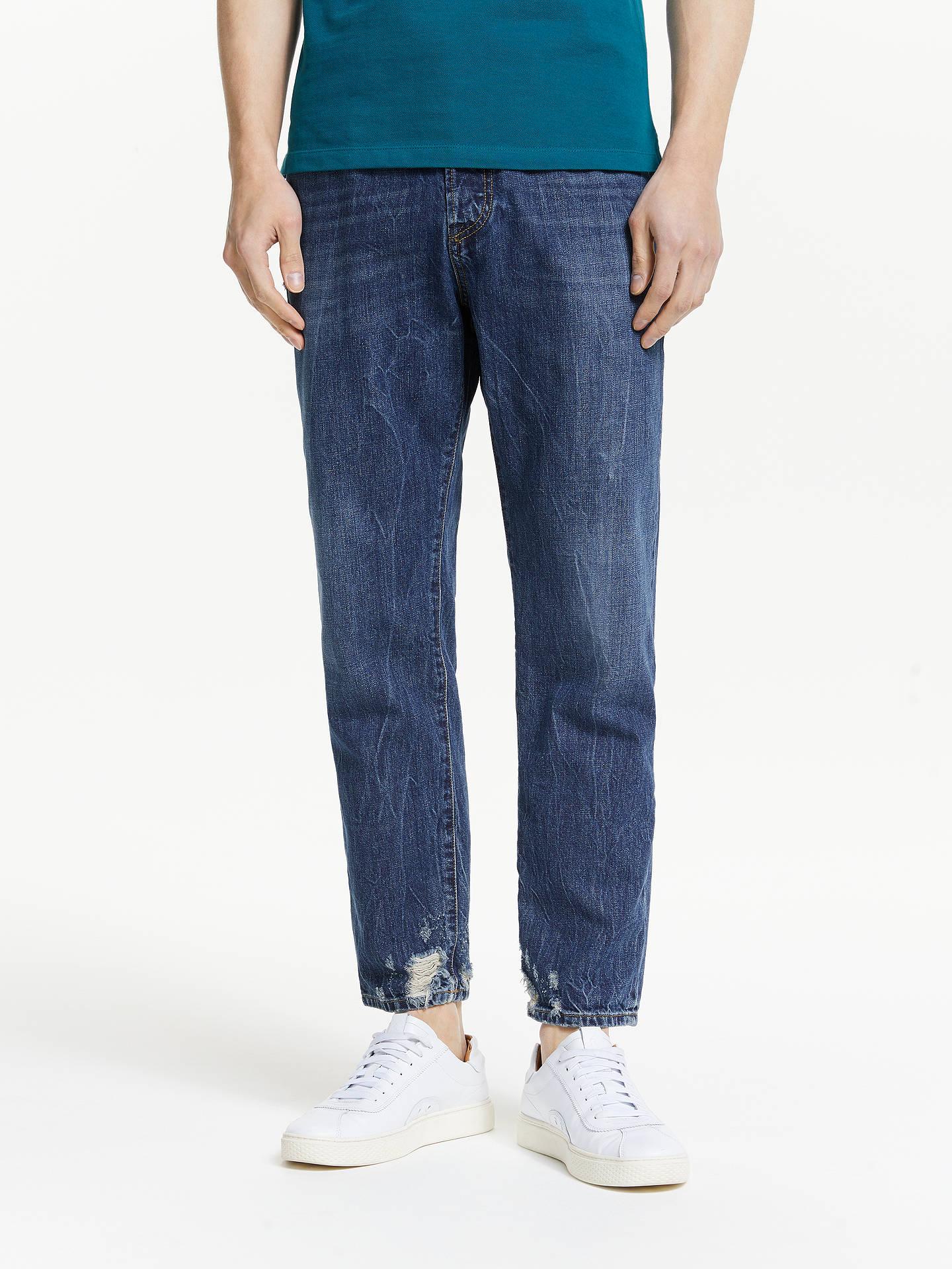 Diesel Mharky Slim Jeans Dark Blue 080ag At John Lewis
