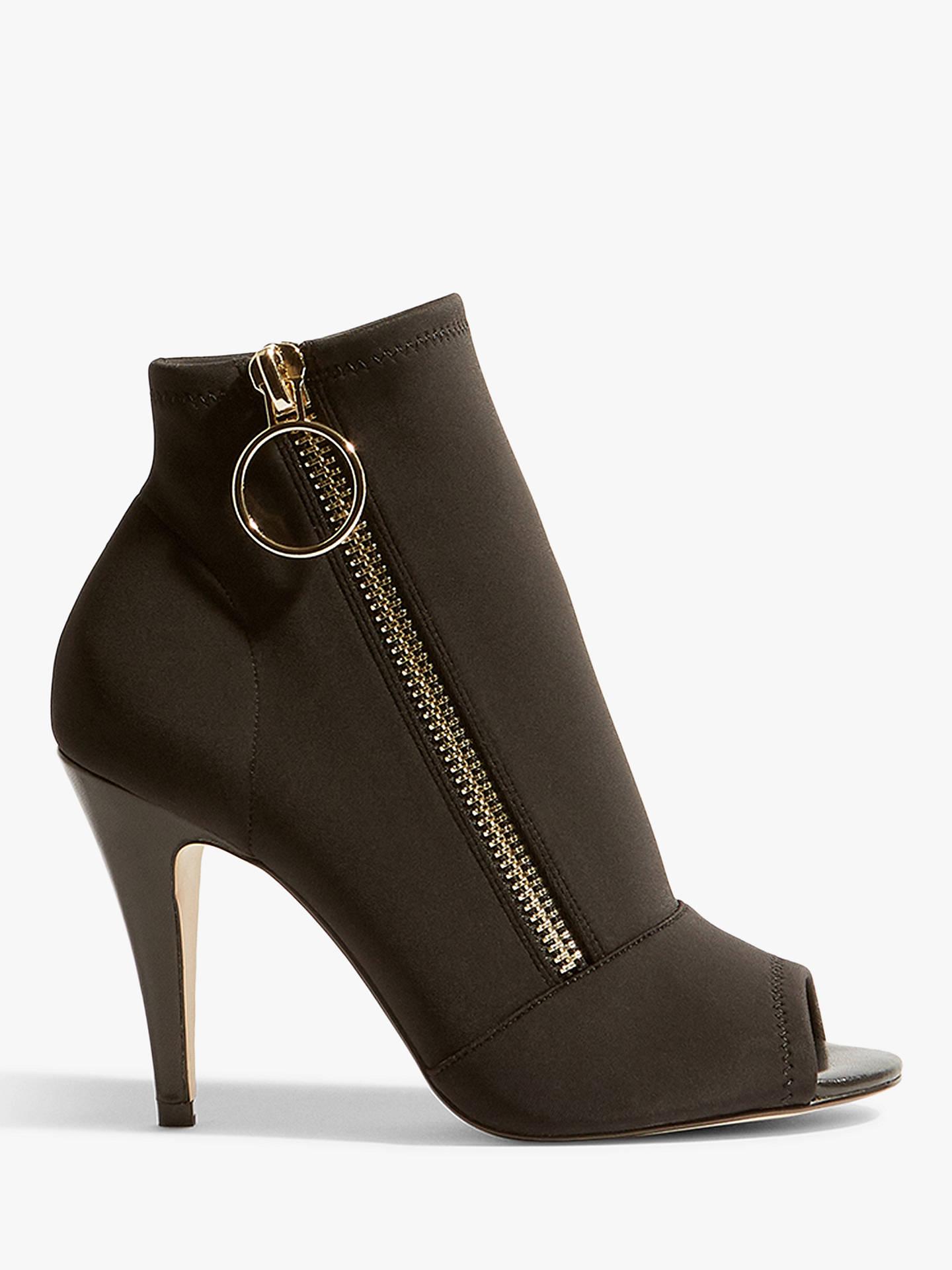 7319cac91dbc Buy Karen Millen Side Zip Peep Toe Shoe Boots