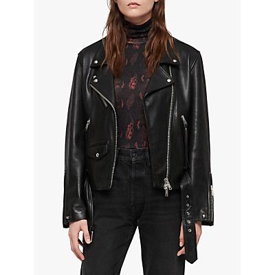 Image of AllSaints Billie Biker Jacket, Black
