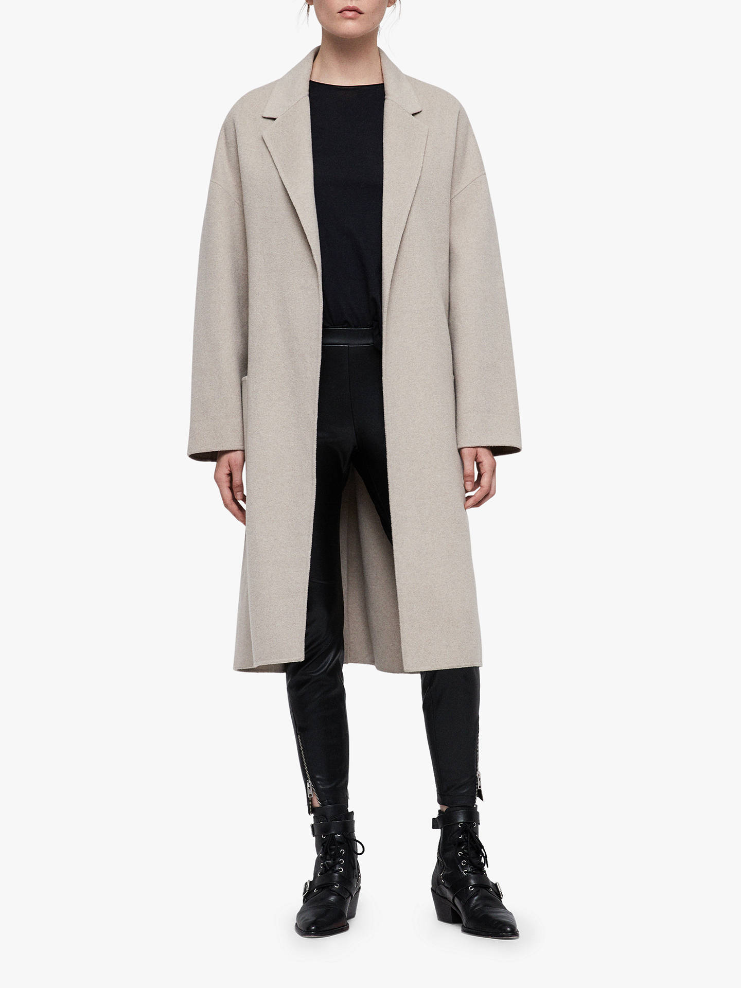 All Saints Lara Coat, Oatmeal Brown by All Saints