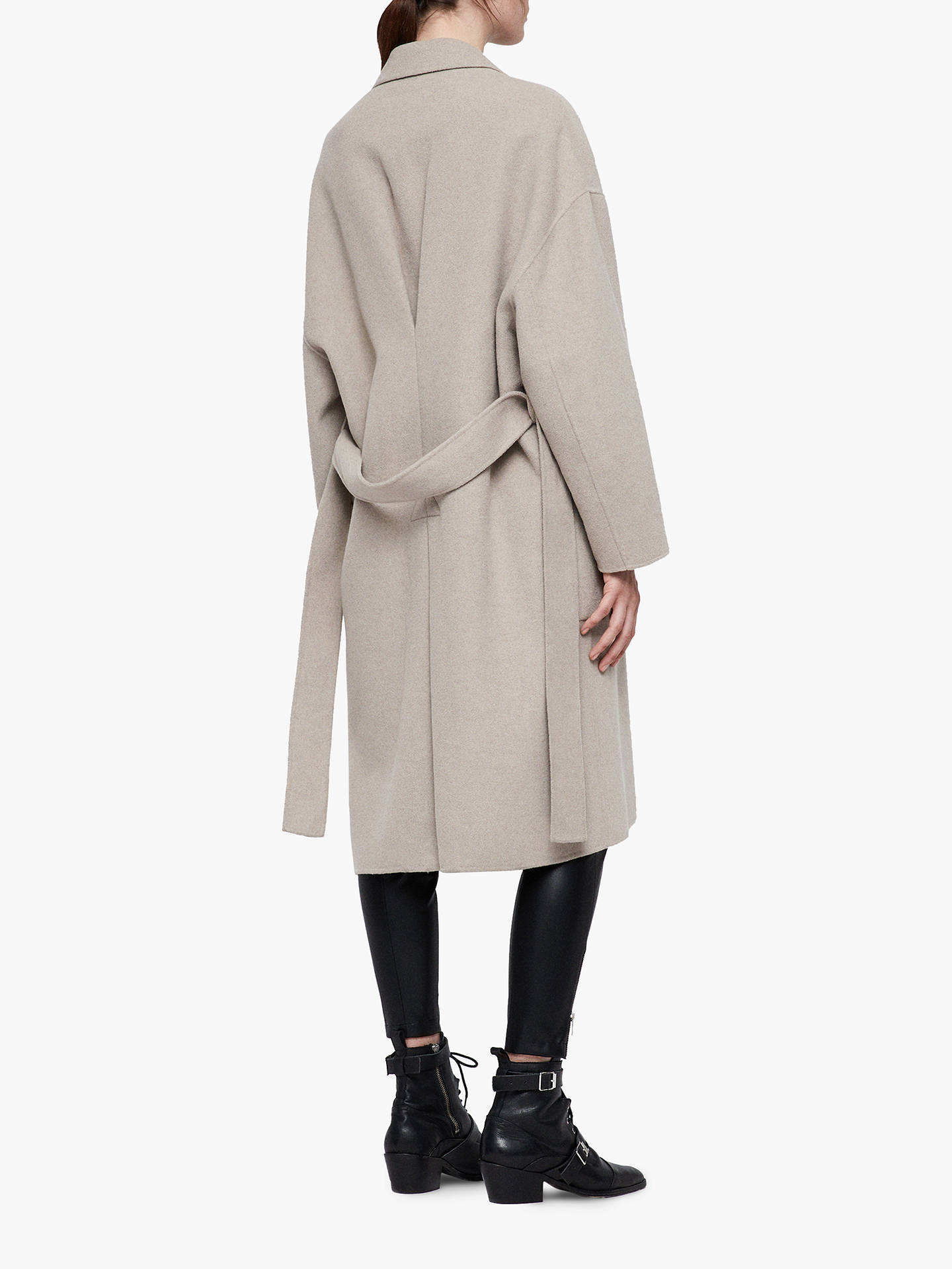 BuyAllSaints Lara Coat, Oatmeal Brown, L Online at johnlewis.com