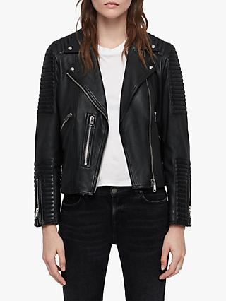 5f43ff540 AllSaints Estella Leather Biker Jacket