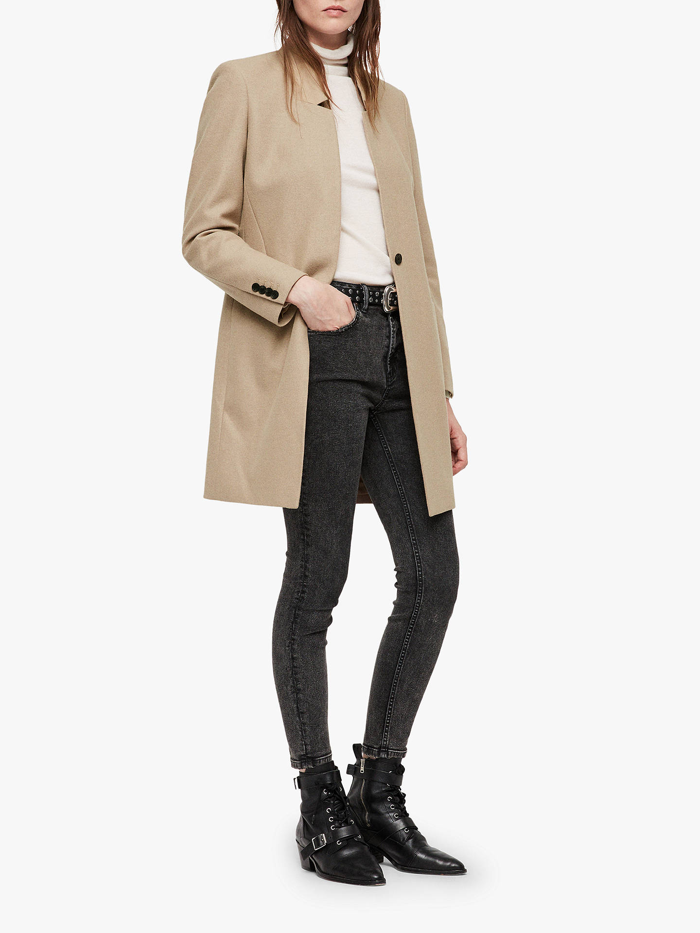 BuyAllSaints Lyla Coat, Light Tan, 14 Online at johnlewis.com