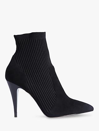 a7ebabb1ed48 Karen Millen Knitted Stretch Stiletto Heel Sock Boots