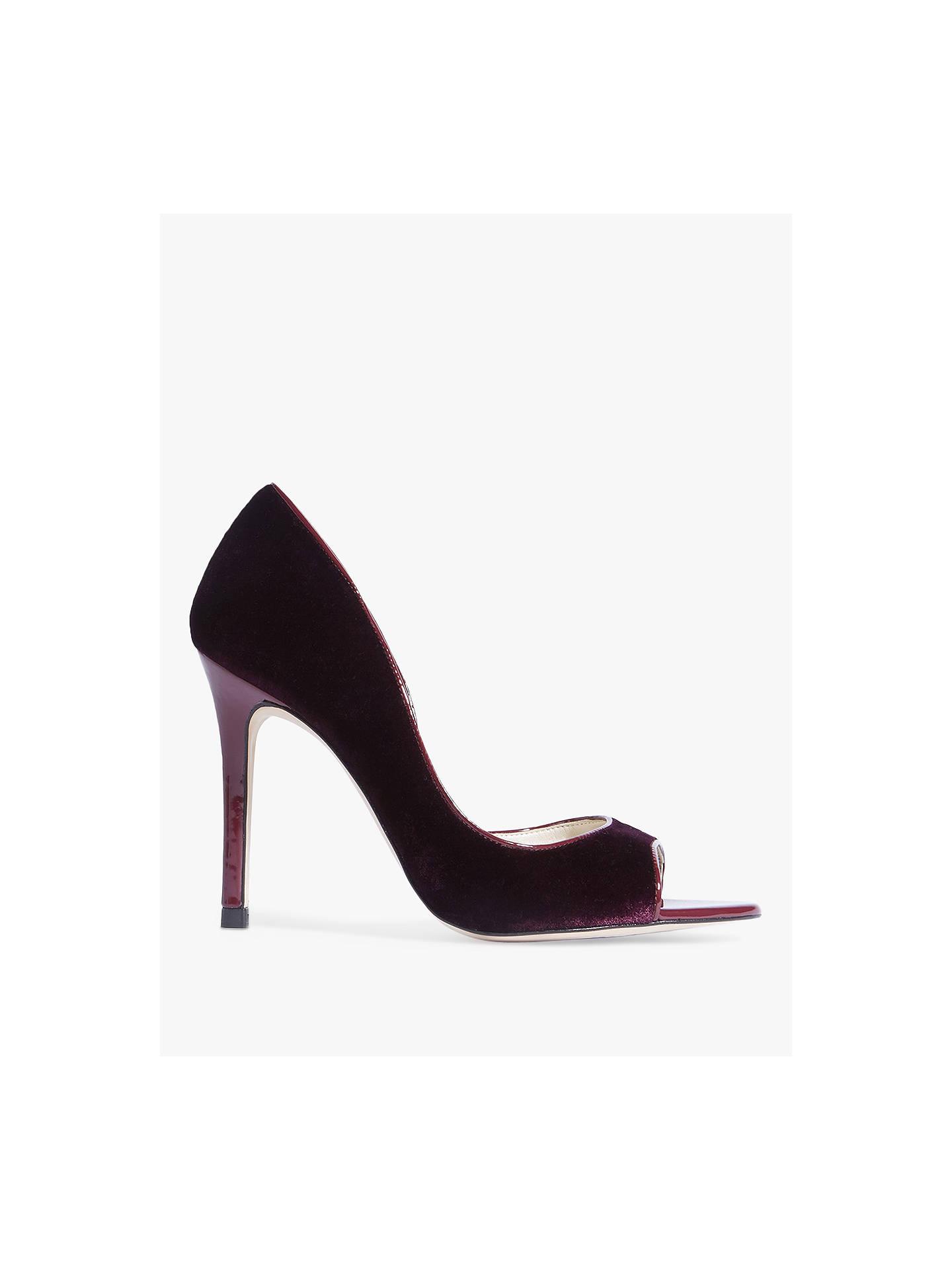 61462f8b297 Karen Millen Stiletto Peep Toe Court Shoes, Purple at John Lewis ...