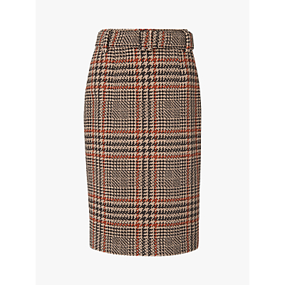 L.K.Bennett Aimee Tweed Skirt, Brown