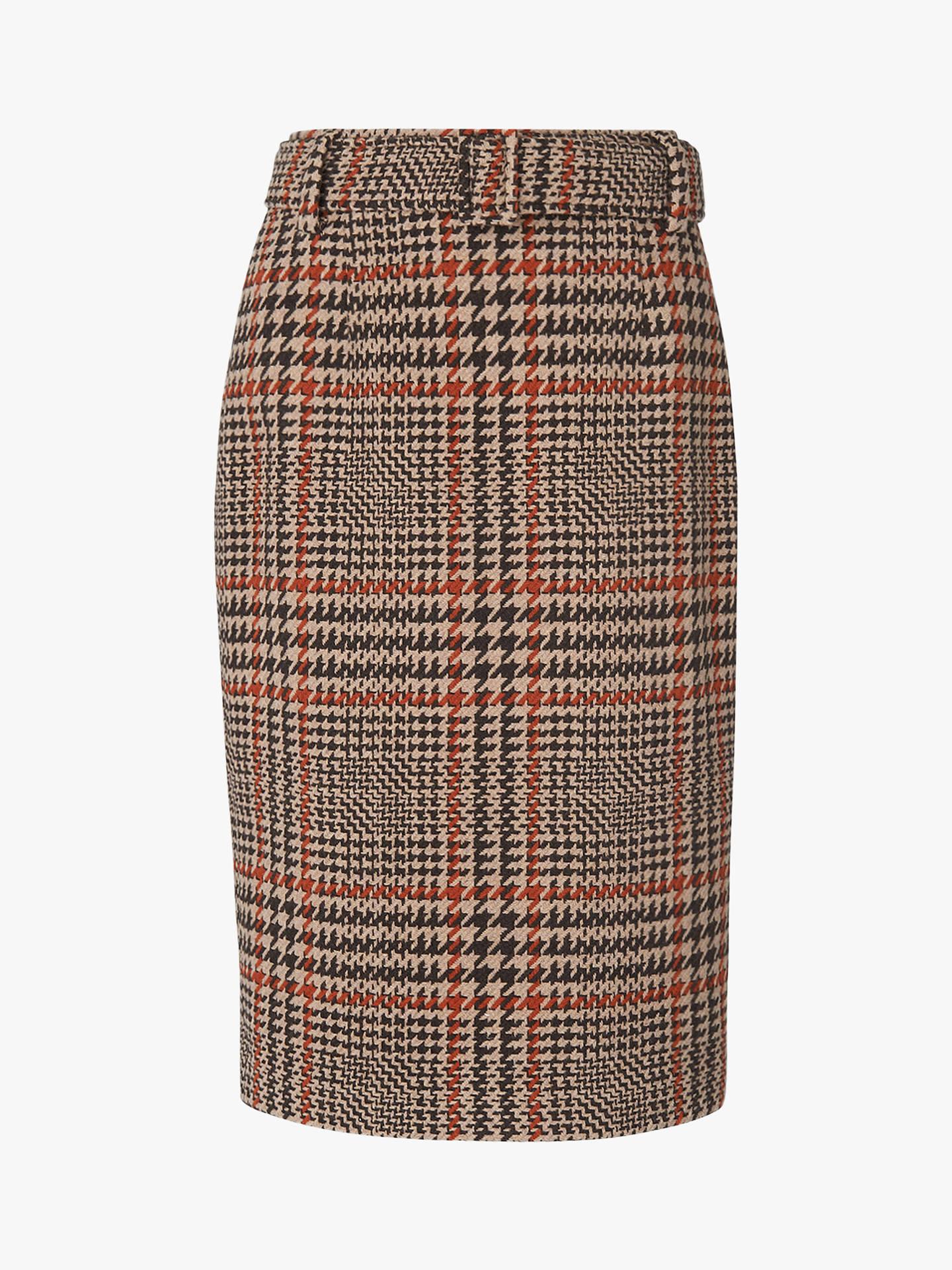 48a56e9ee8 Buy L.K.Bennett Aimee Tweed Skirt, Brown, 10 Online at johnlewis.com