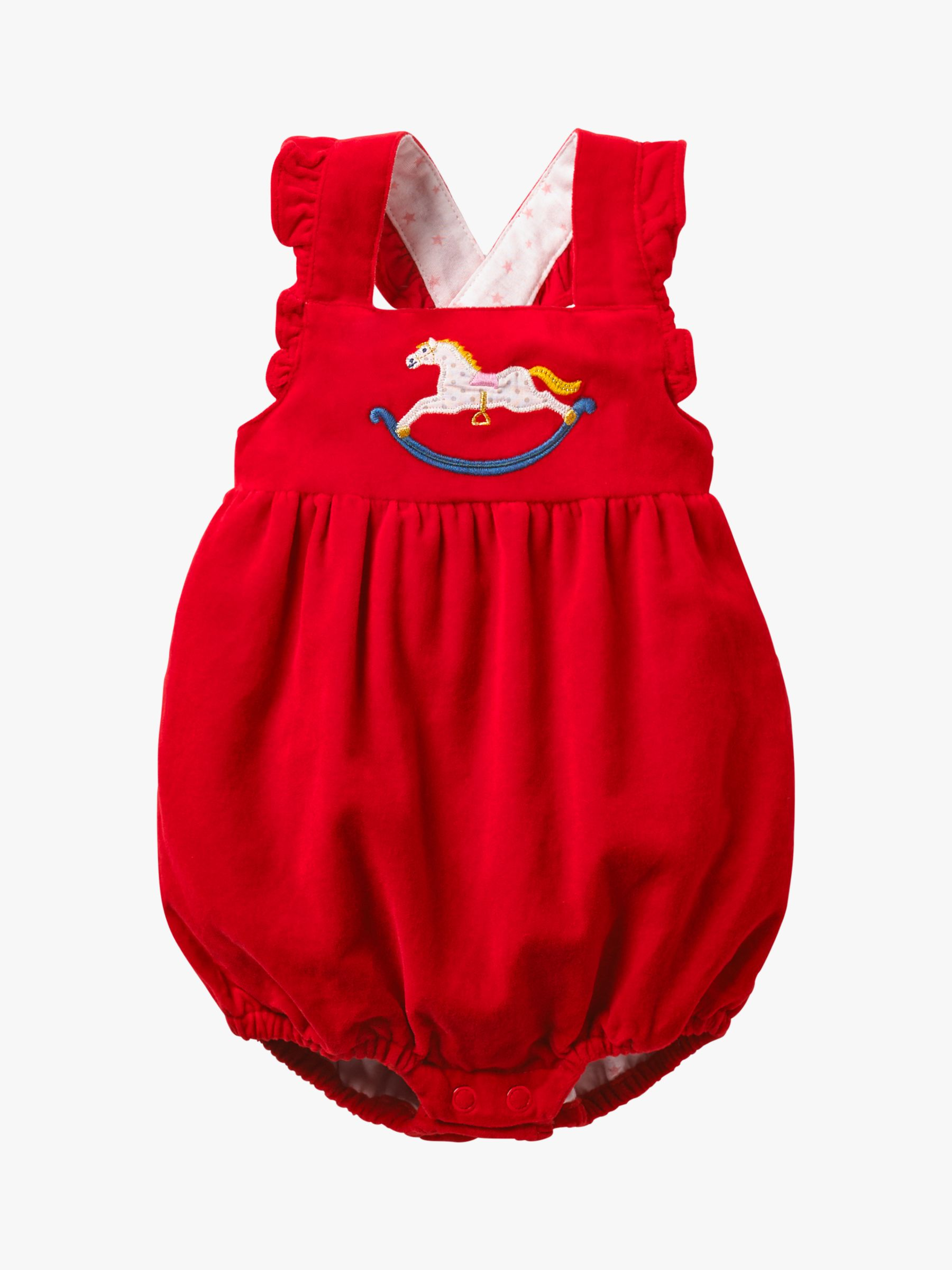 46a2dc649 Mini Boden Baby Frilly Romper, Polish Red at John Lewis & Partners