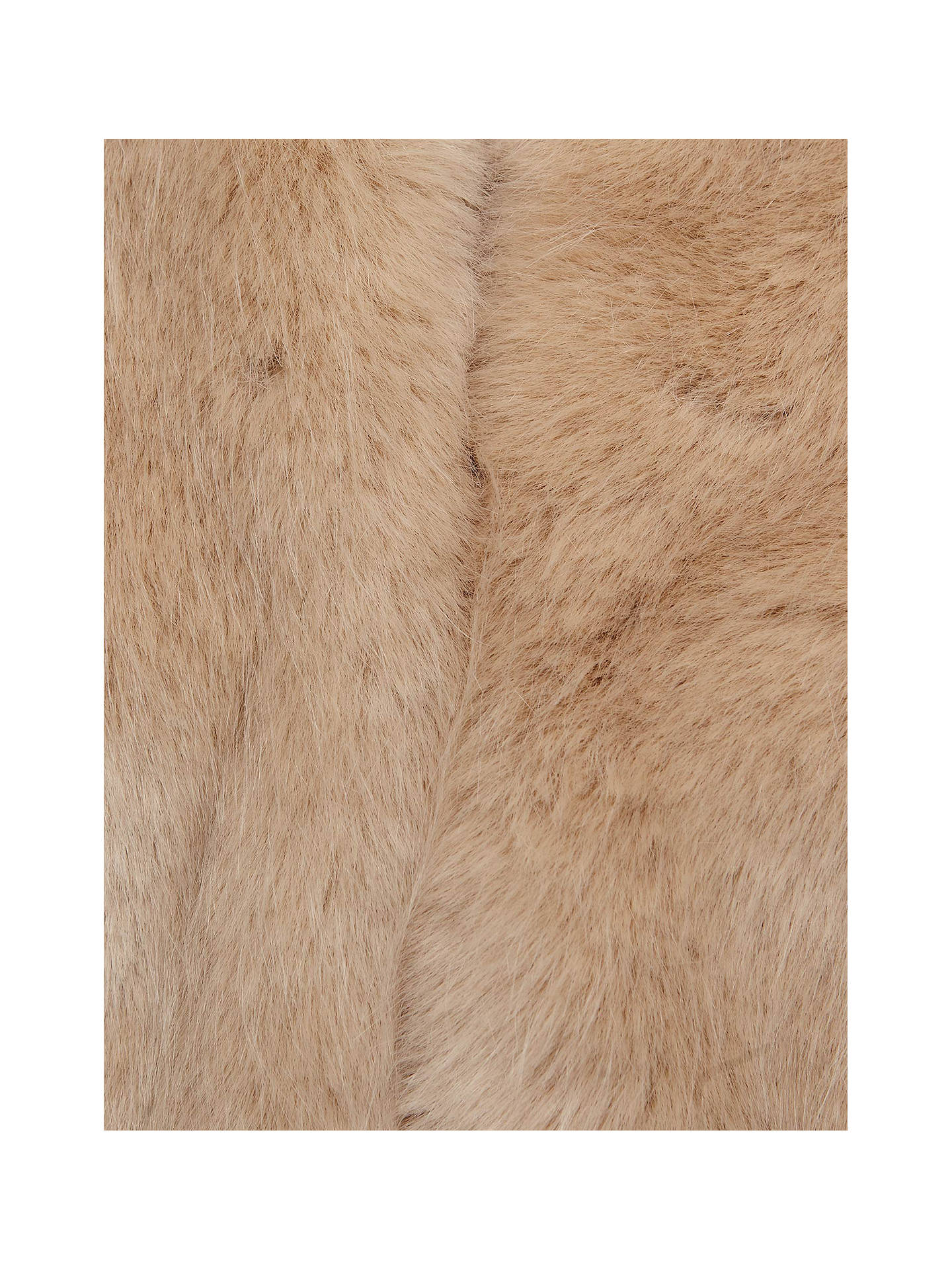 BuyReiss Ethel Faux Fur Stole, Oatmeal, One Size Online at johnlewis.com