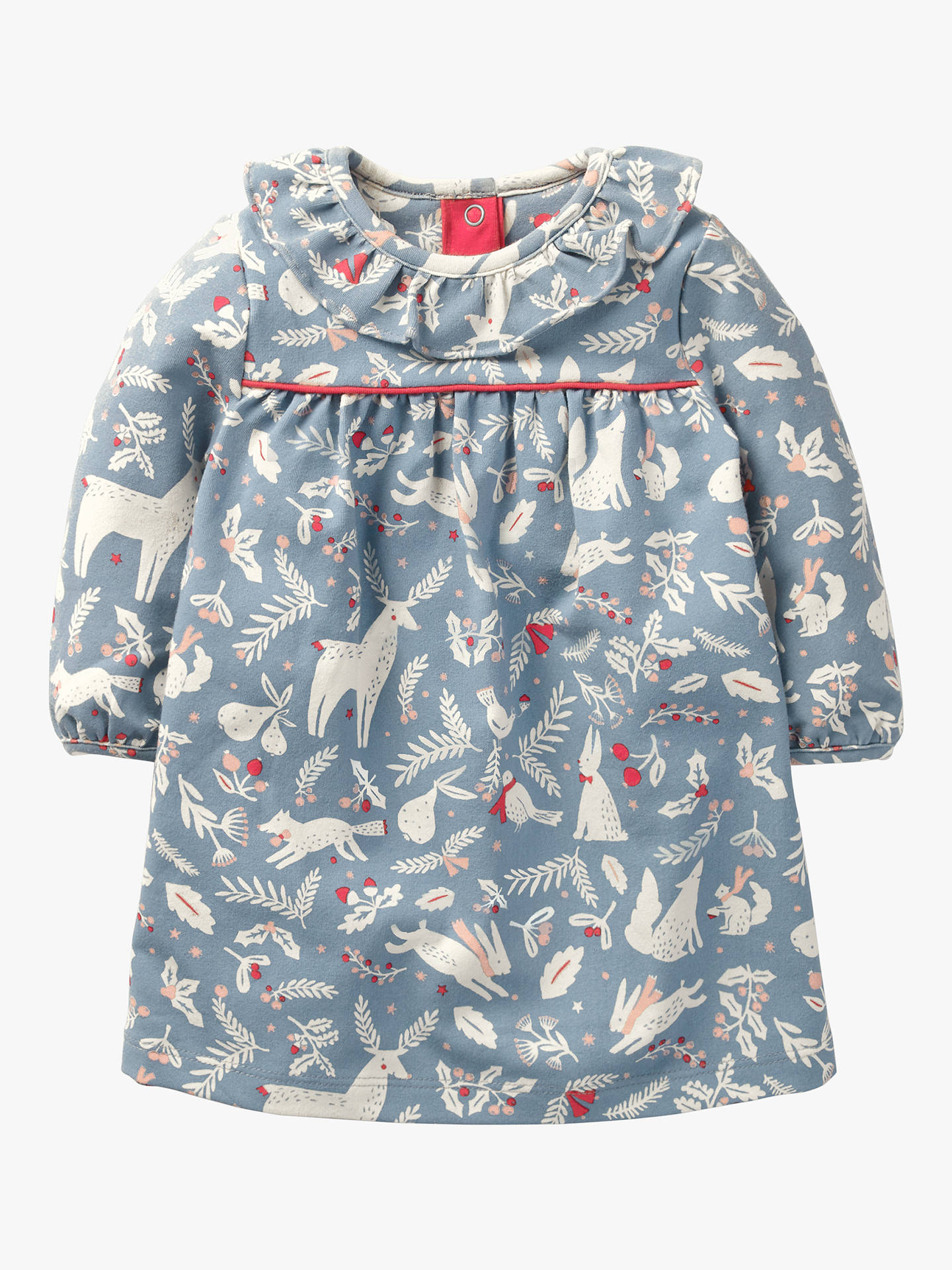 f94c8405e75e Buy Mini Boden Baby Christmas Animal Print Dress, Boathouse Blue, 3-6 months  ...
