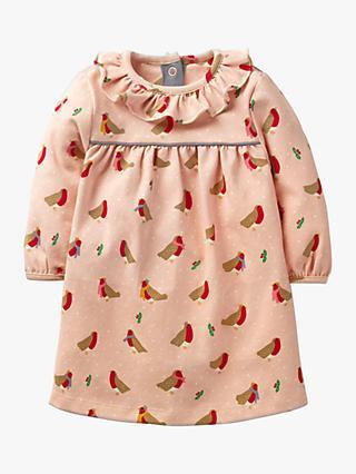 d2308f49fddcd Mini Boden Baby Robin Print Dress, Provence Dusty Pink