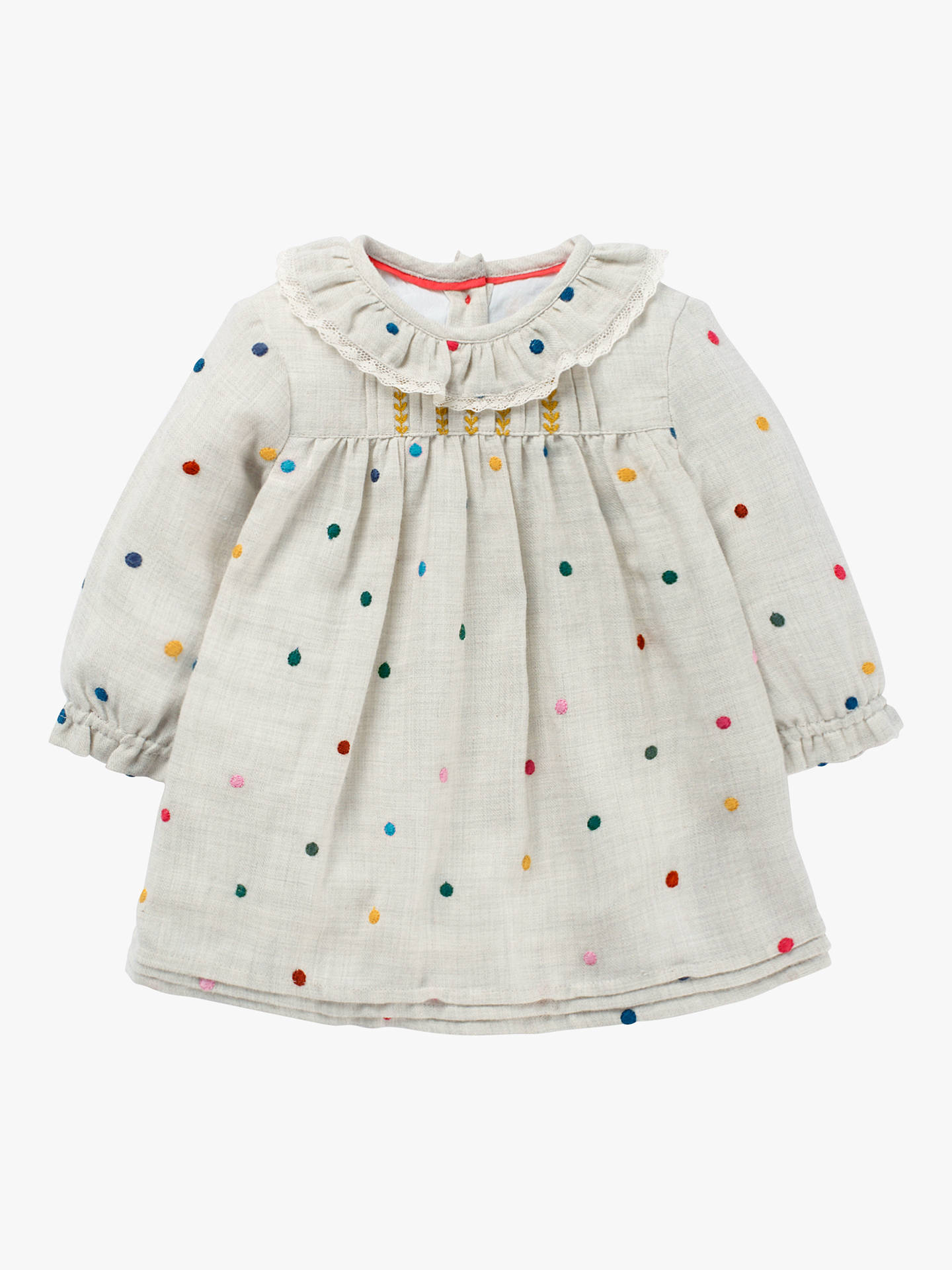 85467765bf32d Buy Mini Boden Baby Nostalgic Pleated Dress, Multi, 3-4 years Online at ...