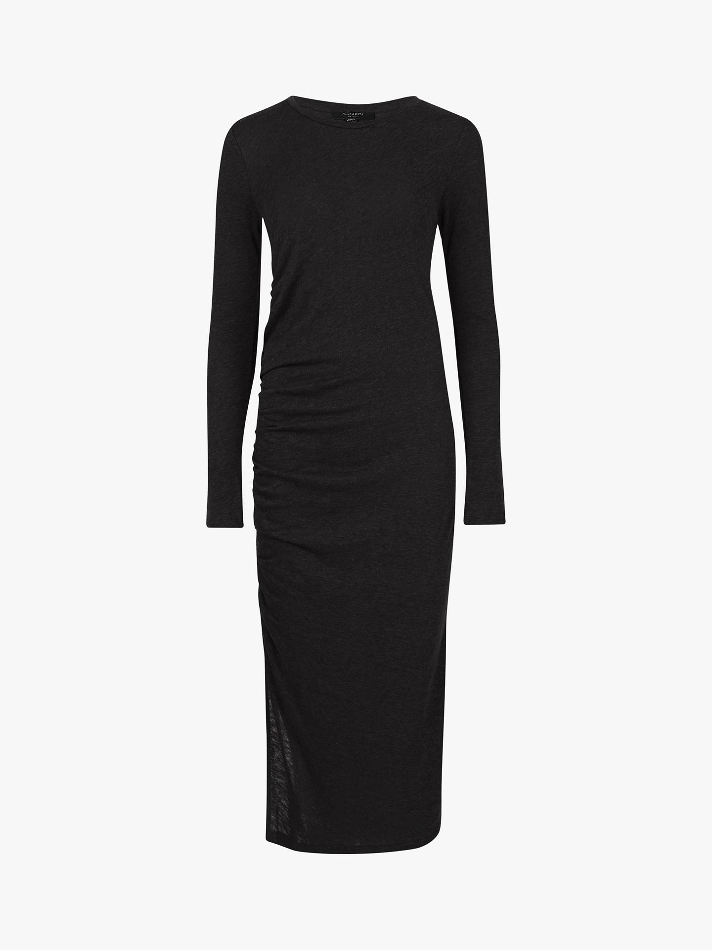 Buy AllSaints Tina Long Sleeve Dress, Black, M Online at johnlewis.com
