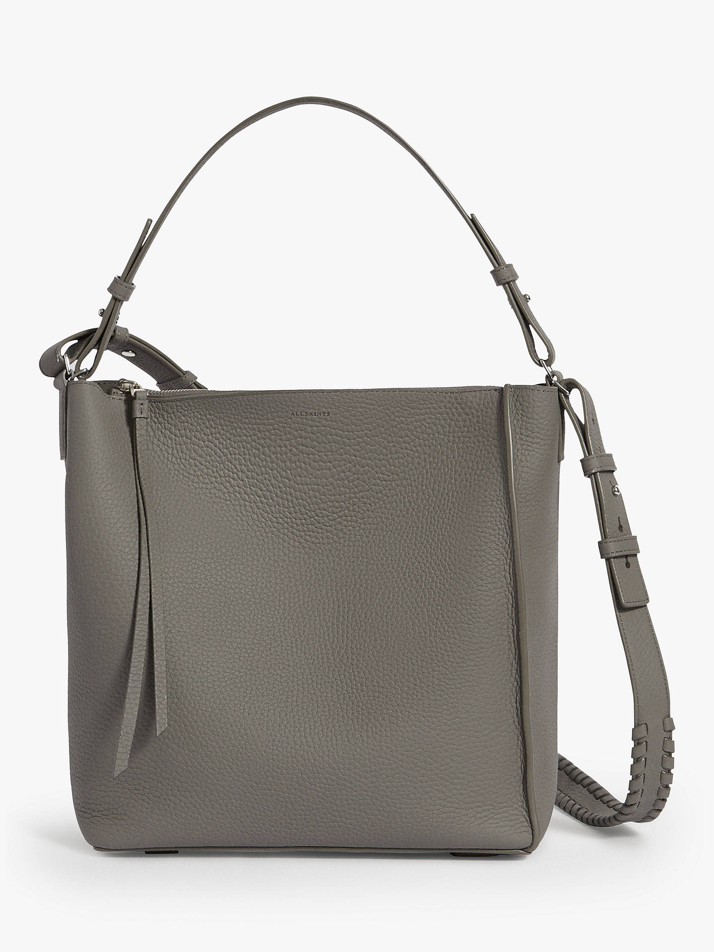 ae17a2fee0b6c5 Buy AllSaints Kita Cross Body Bag, Storm Grey Online at johnlewis.com ...