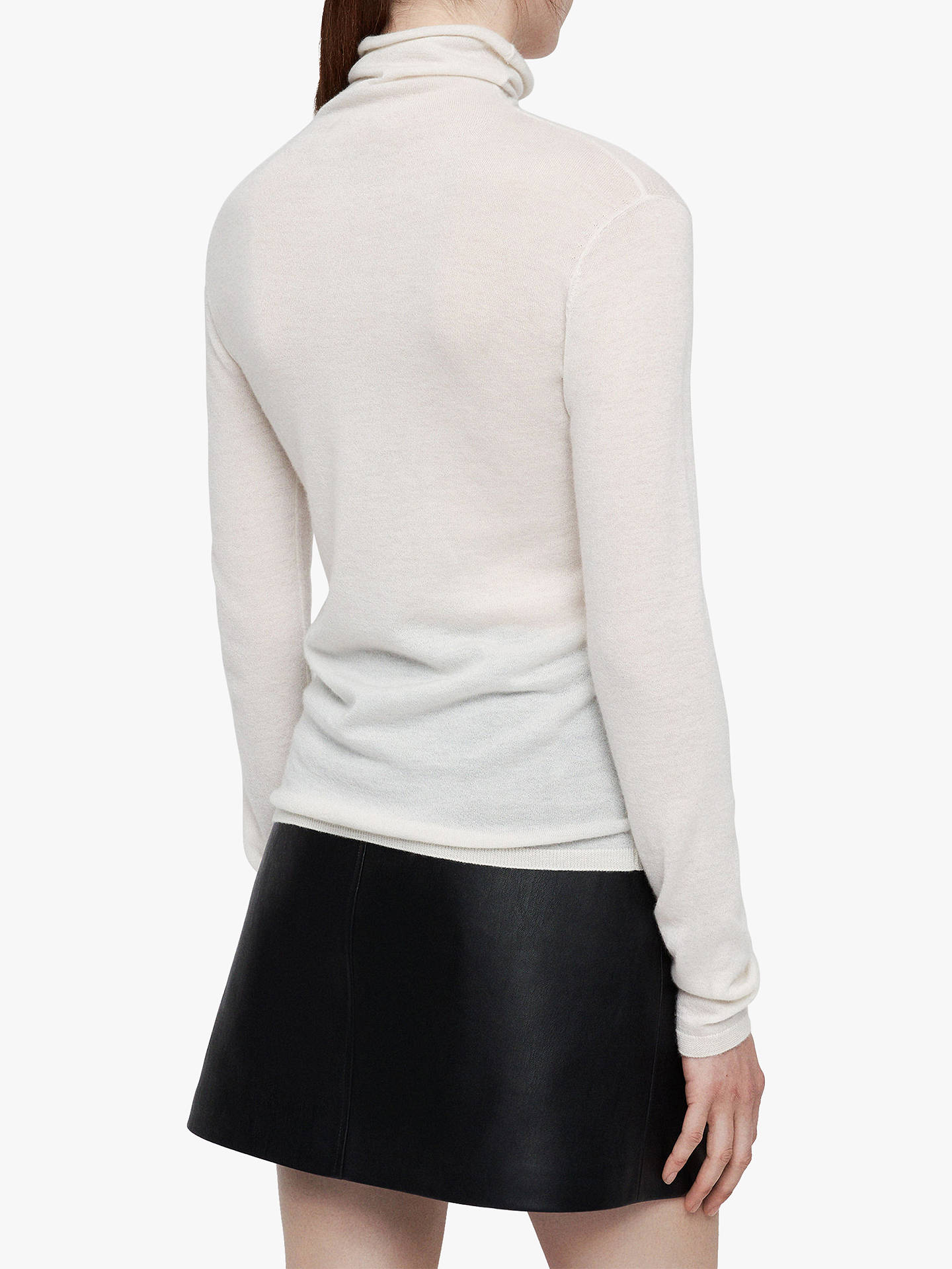 Buy AllSaints Opal Cashmere Funnel Neck Jumper, Ivory, XS Online at johnlewis.com