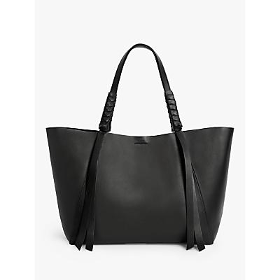 AllSaints Voltaire East West Leather Tote Bag
