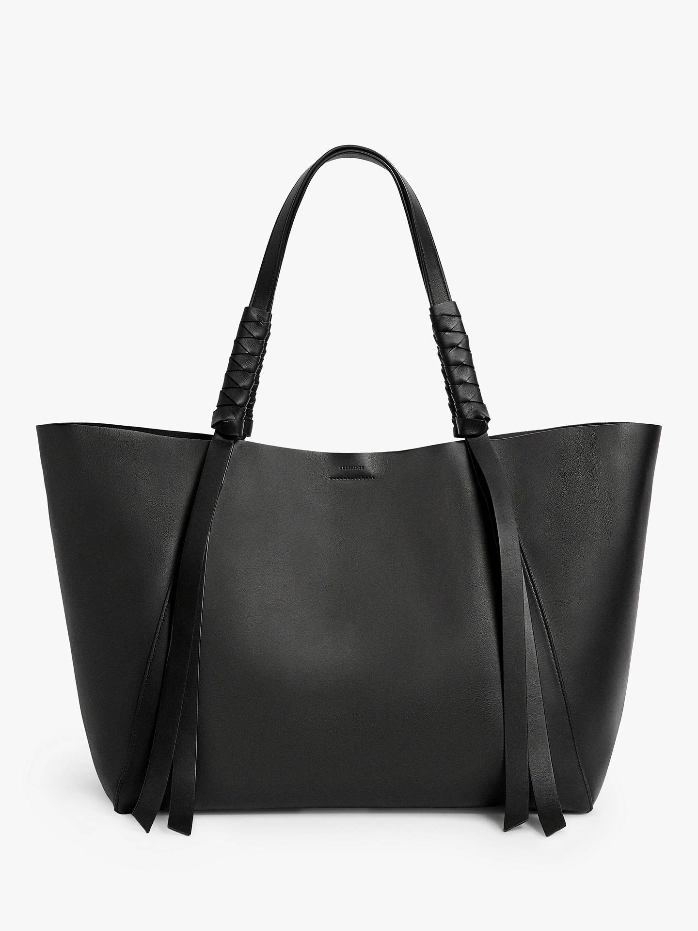 7edef17dfc4e AllSaints Voltaire East West Leather Tote Bag at John Lewis   Partners