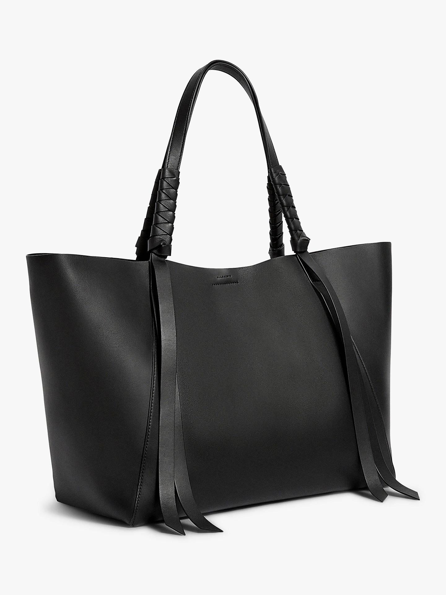 d66d8e2cca AllSaints Voltaire East West Leather Tote Bag at John Lewis   Partners