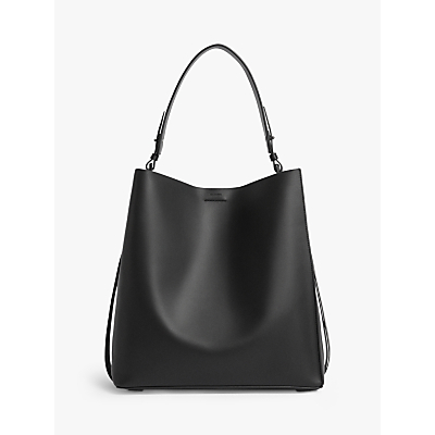AllSaints Voltaire North South Leather Tote Bag