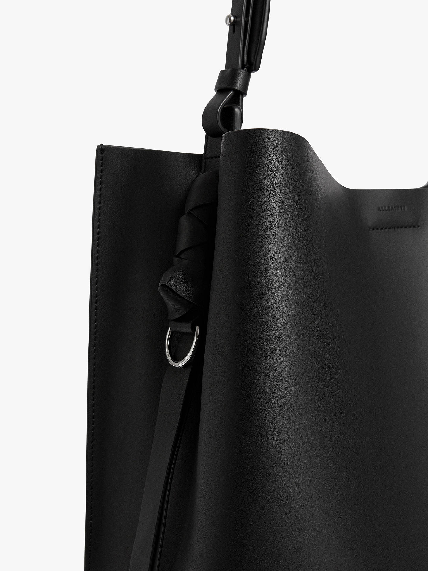 38c48b9887b5 AllSaints Voltaire North South Leather Tote Bag at John Lewis   Partners